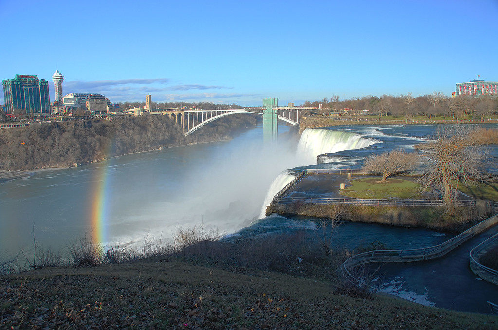 Rainbow graces American Falls
