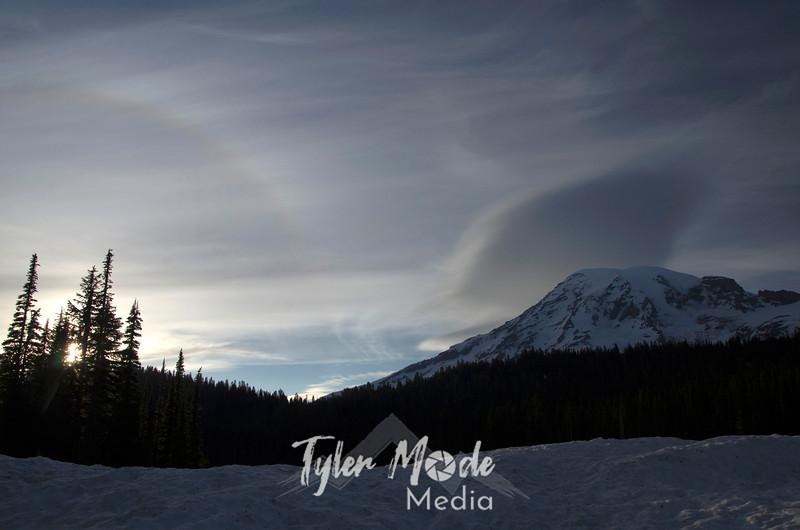 2  February, Halo at Mt  Rainier
