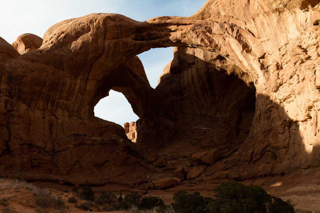 The Double Arch.  Arches National Park, Moab UT.
