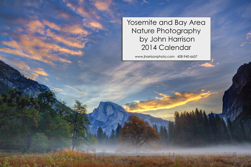 """Half Dome in Yosemite at Sunrise"""" Half Dome looked stunning the morning I captured this. The low lying fog through Cooks Meadow with the colors in the sky. Yosemite National Park can be so amazing and different every time you visit. My favorite time is to be there in the Fall with very few people visiting. Early in the morning you can be the only person walking around. I am still hoping to pop up there in the next few weeks. Anyone else been lately?! Copyright John Harrison Photography — at Yosemite National Park"""