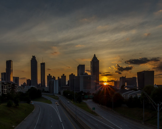 2015-8-8 Atlanta Skyline Sunset