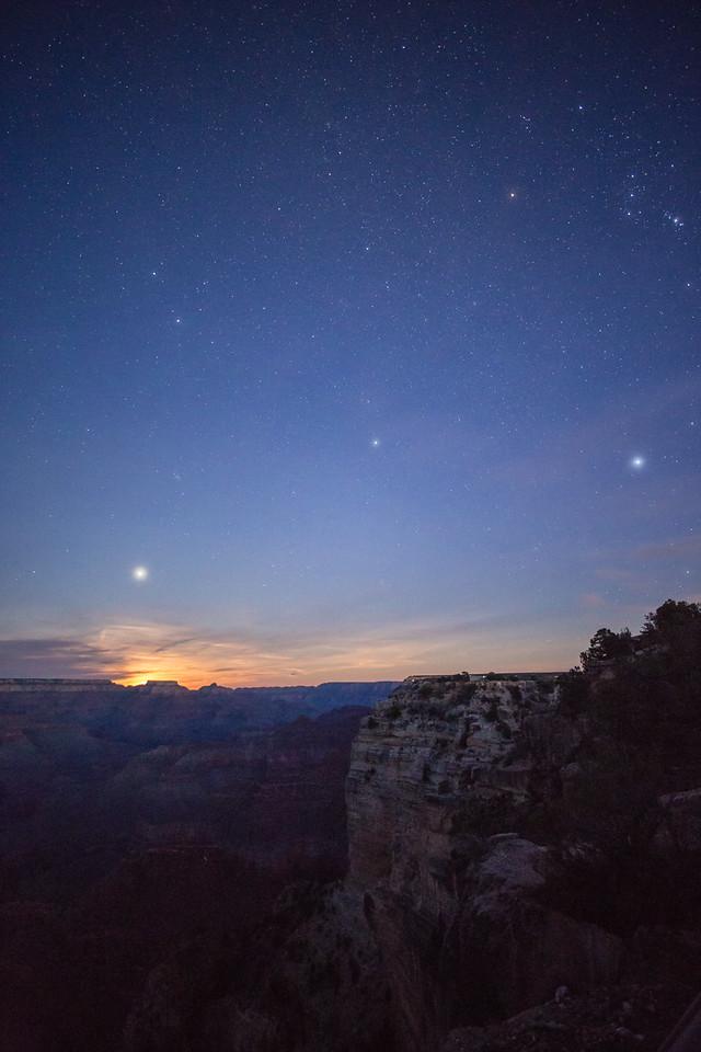 Night time @ Hopi Point -- Grand Canyon National Park, AZ