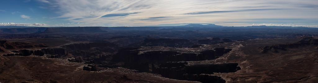 The Grandview Overlook  (Pano) -- Canyonlands National Park, Utah