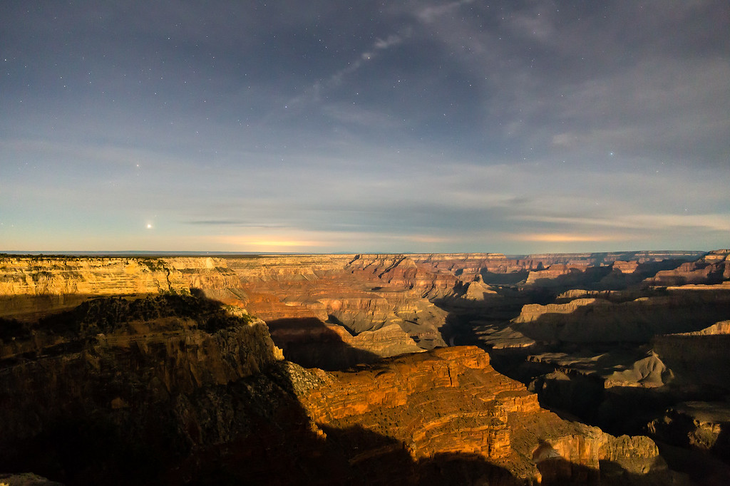 Night time @ Hopi Point (under a Full Moon) -- Grand Canyon National Park, AZ
