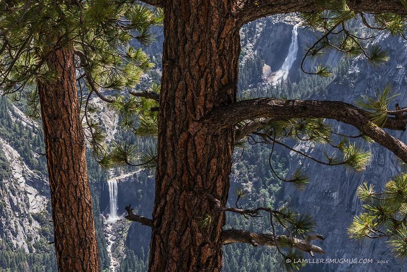 Nevada Falls & Vernal Falls viewed from Glacier Point, Yosemite National Park - June 2015