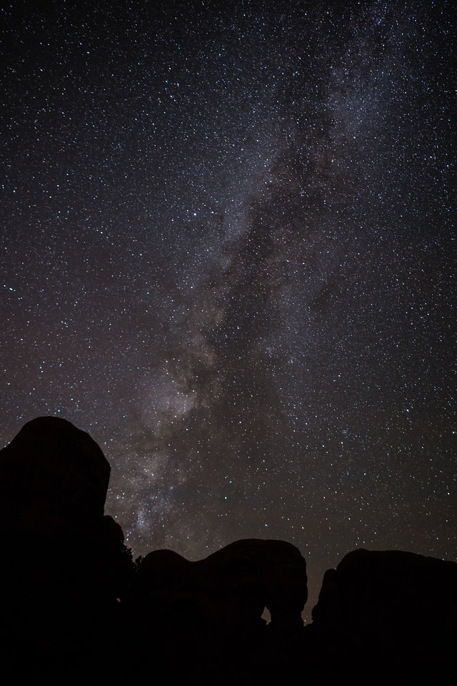The Milky Way in Arches National Park