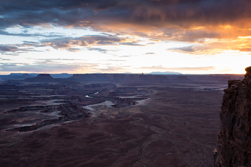Sunset at the Green River Overlook