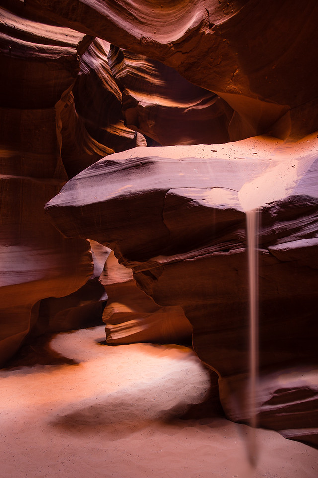 Sandfall in Upper Antelope Canyon