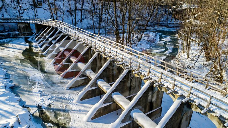 Zoo Bridge Drone Winter FS
