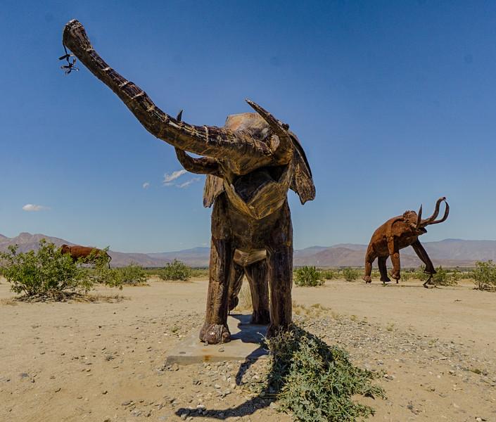 Borrego Springs metal sculpture