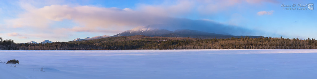 Clouds over Mt. Katahdin at Sunset