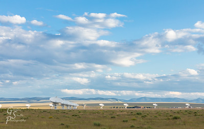 Very Large Array with Partly Cloudy Skies