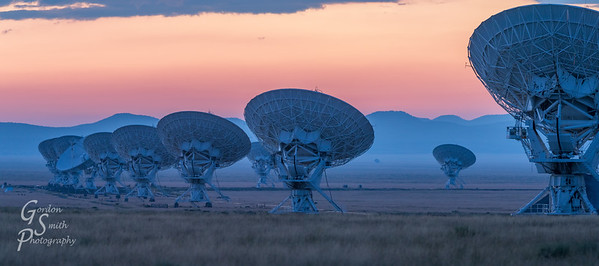 Very Large Array with Purple Night