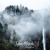 2  G Multnomah Falls and Clouds