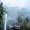 23  G Multnomah Falls and Clouds