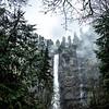 10  G Multnomah Falls and Clouds V