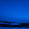 96  G Yukon River Bridge and Moon V