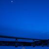 96  G Yukon River Bridge and Moon V