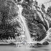 55  G Horsetail Falls Wide BW