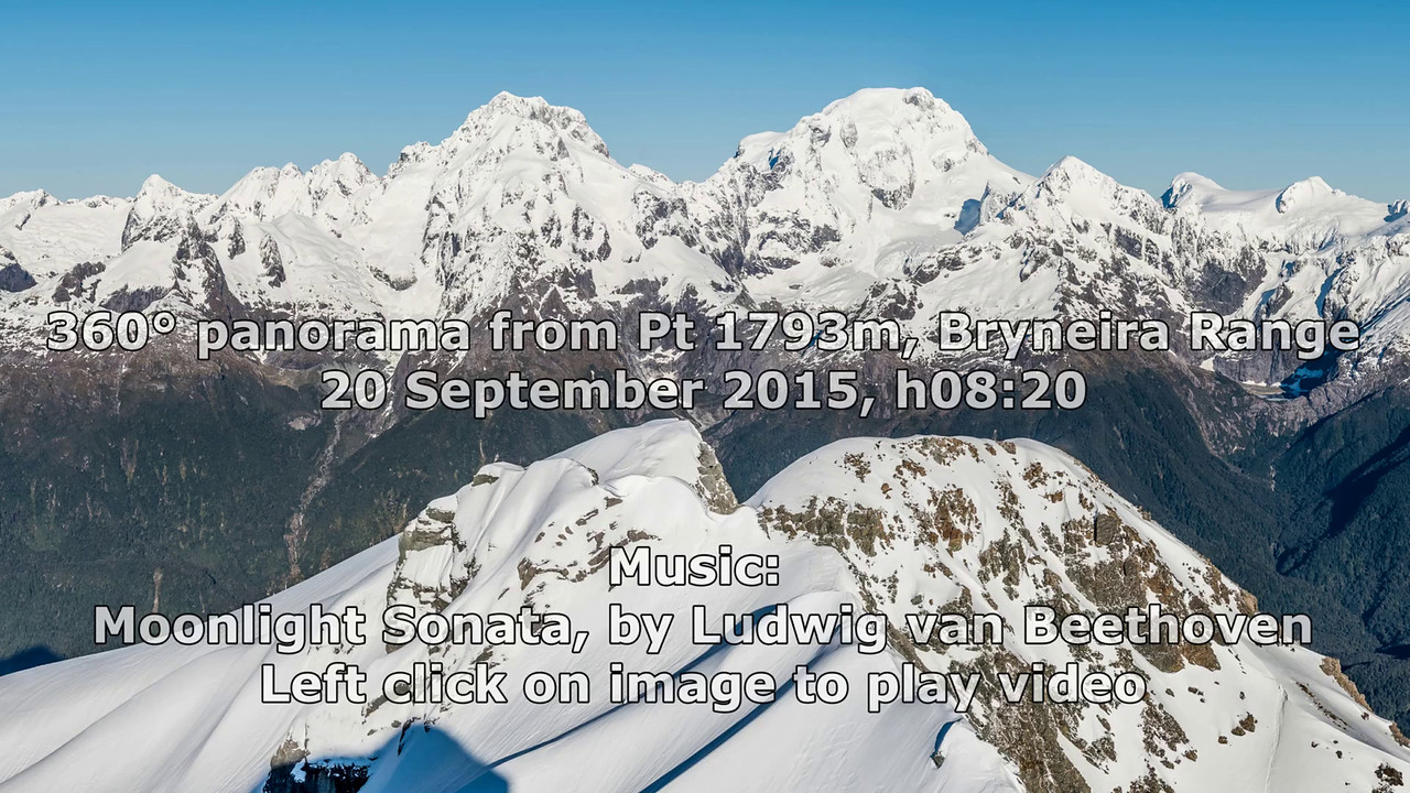 360° degree panorama from Unnamed Peak Pt 1793m, highest point in the Bryneira Range