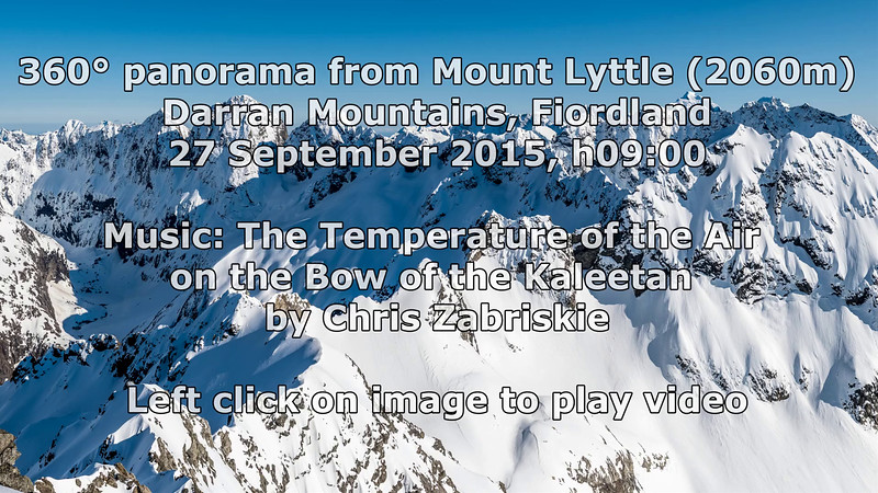 360° panorama from the summit of Mount Lyttle. 27 September 2015, h9:00am