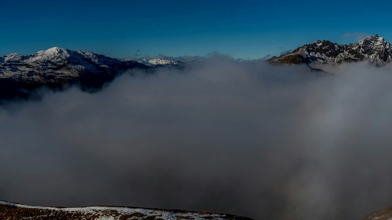 360 degree panorama from Pt 1543m, Livingstone Range.<br /> Soundtrack: Leave Well Enough Alone, by Dexter Britain