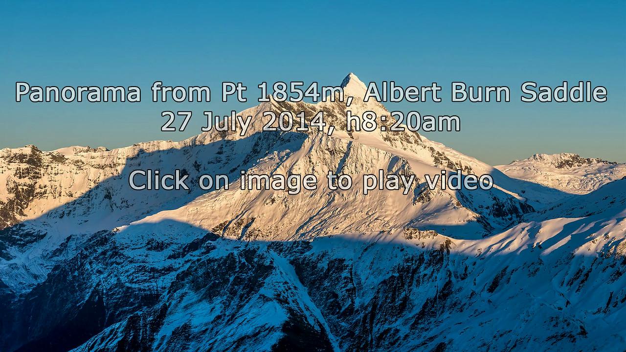 Panorama from Pt 1854m north of Albert Burn Saddle
