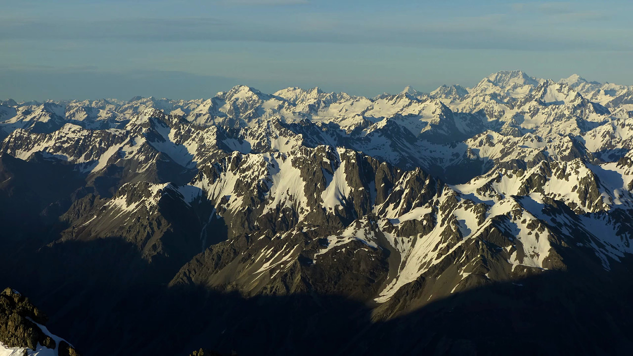 Panorama from the south west ridge of Mt Arrowsmith, looking west. And who knew all of these peaks even existed?