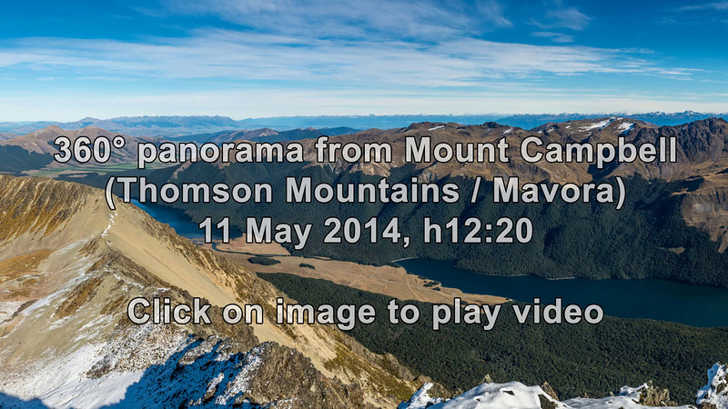 360° panorama from the summit of Mount Campbell. Music: The Lonely Shepherd, by Gheorghe Zamfir