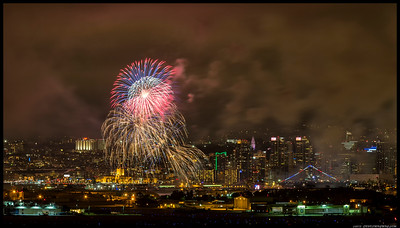 Fireworks over San Diego.