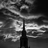 14  G LDS Church and Sunset BW V