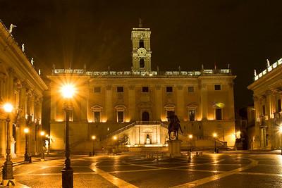 Piazza del Campodiglio at the top of Capitoline Hill.