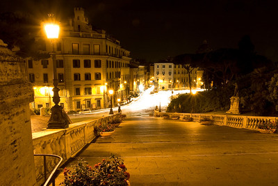 Looking down from Capitoline Hill toward Fontana di Piazza d'Aracoeli.