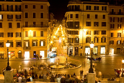 Looking down at Piazza Espagna - The Spanish Steps.
