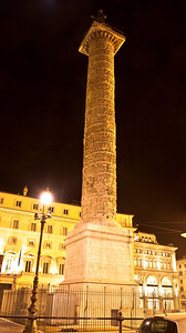 The column of Marcus Aurelius in Piazza Colonna.  This column has been standing in this spot since 193 CE.