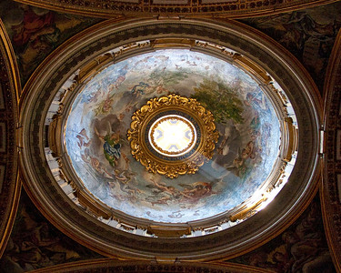 One of the domes within Saint Peter's Basilica.
