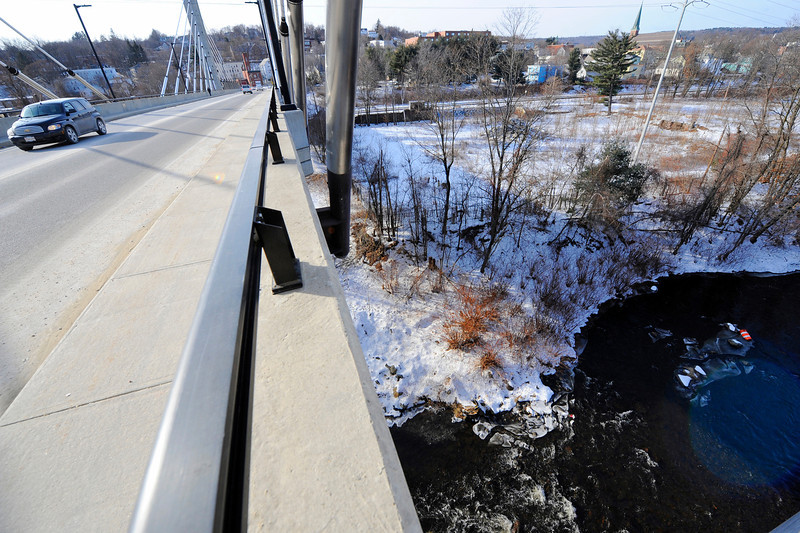 A view from the 5th Street Bridge in Fitchburg, Tuesday.<br /> SENTINEL & ENTERPRISE / BRETT CRAWFORD