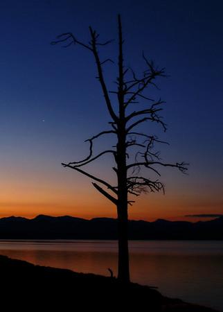 Sunrise at Lake Yellowstone