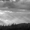 11  G Storm Clouds Rays BW