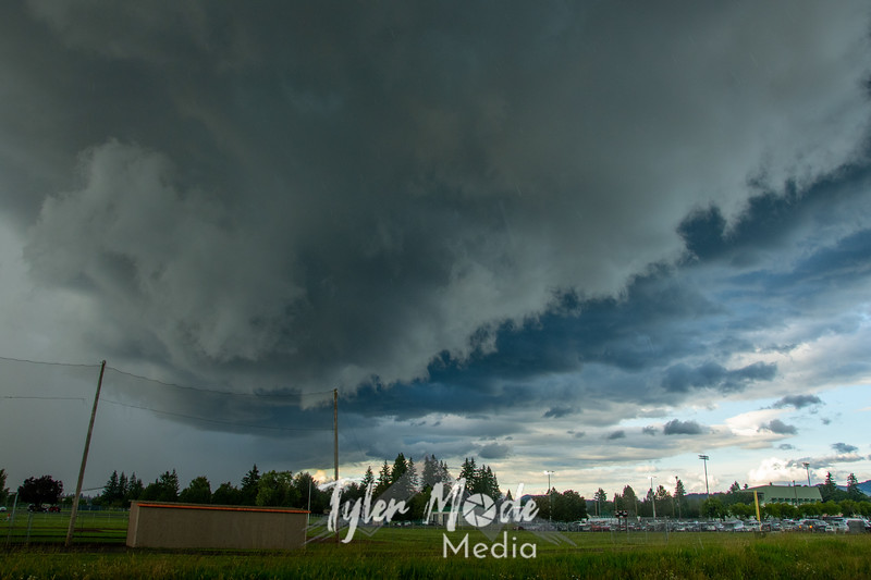 1  G Storm Clouds Over Baseball Field