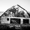 32  G Abandoned Barn BW