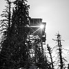 54  G Lookout Tower Sun BW V