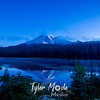 18  G Rainier Reflection Lakes Blue Hour