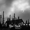 12  G Paradise Inn and Crescent Moon BW