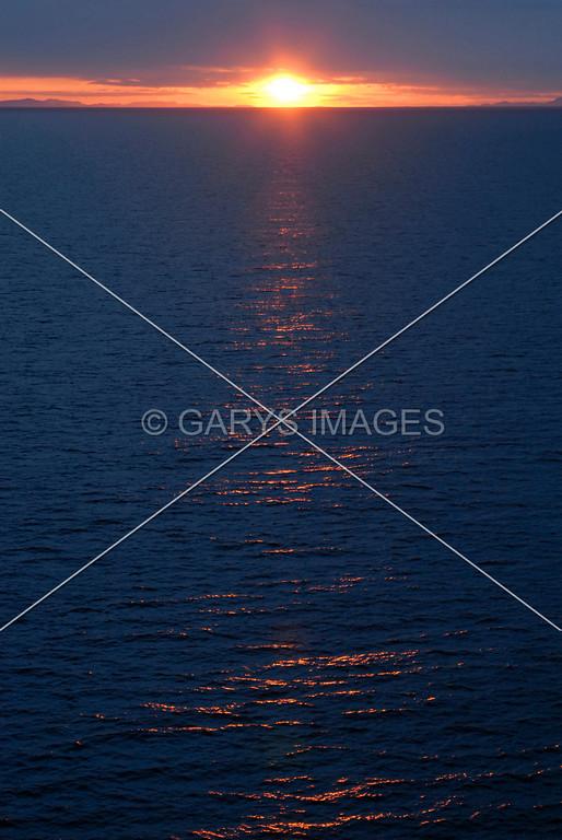 sunset over the Gulf ao Alaska