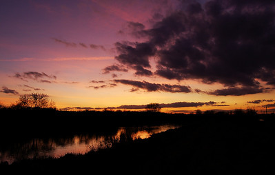 River Witham sunset afterglow