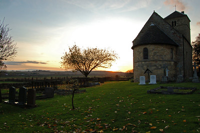 South Greetwell church at sunset