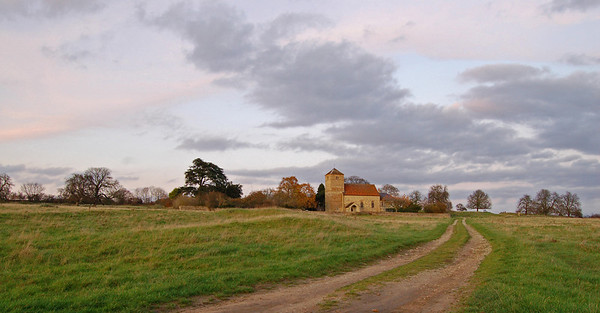 South Greetwell church from the track to the river