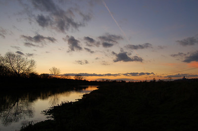 River Witham at sunset