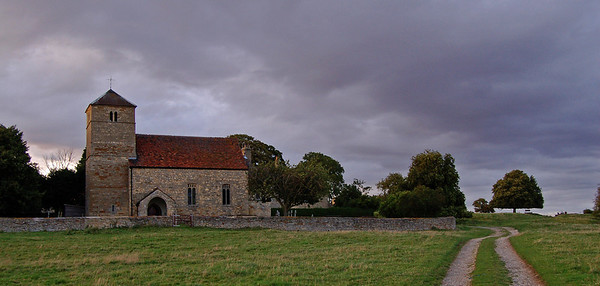 South Greetwell church at dusk